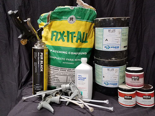 Seaming and painting supplies